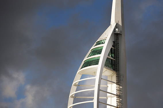 Spinnaker Tower photograph for business website in Portsmouth